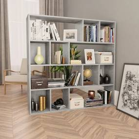 Divisória/estante 110x24x110 cm Contraplacado Cinzento Cimento