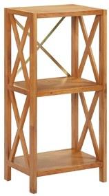 325575 vidaXL Estante com 3 prateleiras 40x30x87 cm madeira carvalho maciça