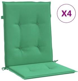 47557 vidaXL Almofadões para cadeiras de jardim 4 pcs 100x50x4 cm verde