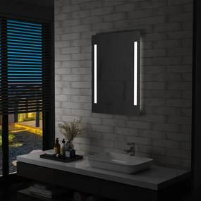 144703 vidaXL Espelho de parede LED para casa de banho 60x80 cm