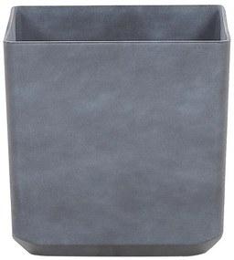 Vaso para plantas quadrado 43 x 43 x 43 cm cinza ARTIKI