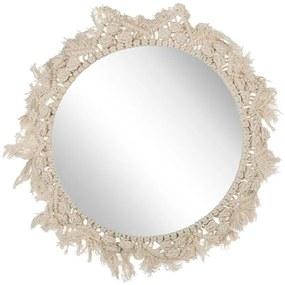 Espelho de parede ø 48 cm creme DHANPURI