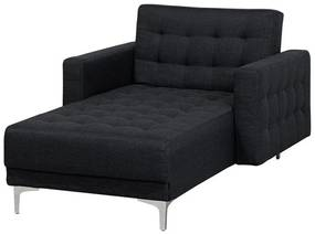 Sofá chaise longue em tecido cinzento grafite ABERDEEN