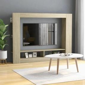 Móvel de TV 152x22x113 cm contraplacado cor carvalho sonoma