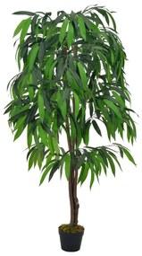 280203 vidaXL Planta mangueira artificial com vaso verde 140 cm