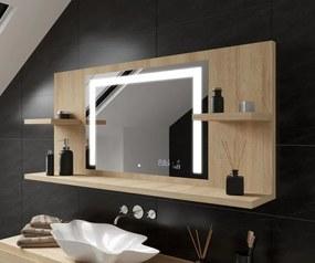 Espelho com iluminação e com prateleiras LED L11