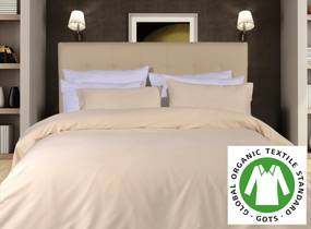 300 Fios - Lençóis 100% algodão cetim orgânico GOTS: 1 lençol capa ajustável  90x200+25 cm  +  1 lençol superior 180x290 cm +  (1) fronha 50x70 cm