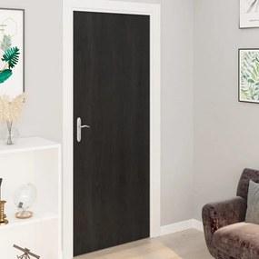 3059641 vidaXL Autocolante para porta 4 pcs 210x90 cm PVC cor madeira escura