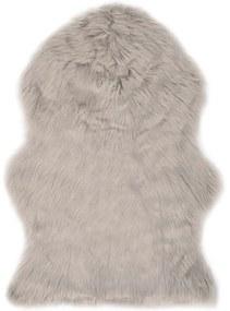 284712 vidaXL Tapete em pele de carneiro artificial 60x90 cm cinzento-claro
