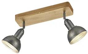 Ponto industrial de aço ajustável com 2 luzes - Arti Industrial