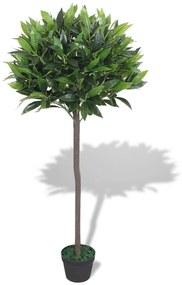 244452 vidaXL Planta loureiro artificial com vaso 125 cm verde