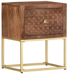 286554 vidaXL Mesa de cabeceira 40x30x50 cm madeira de mangueira maciça