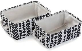 Conjunto de Cestas Têxtil (2 Peças) (35 x 16 x 25 cm)