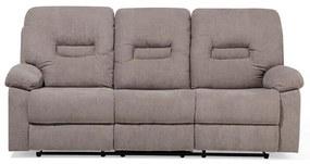 Sofá de 3 lugares reclinável em tecido taupe BERGEN