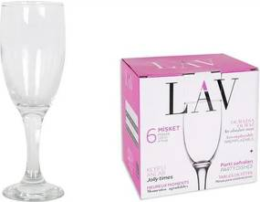 Conjunto de Copos LAV MISKET champagne Cristal 125 cc (6 Peças)