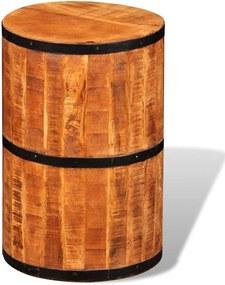 Banco de bar madeira de mangueira recuperada maciça