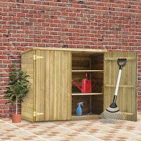Abrigo p/ ferramentas de jardim 135x60x123 cm pinho impregnado