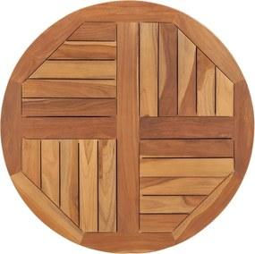 Tampo de mesa redondo 2,5 cm 70 cm madeira de teca maciça