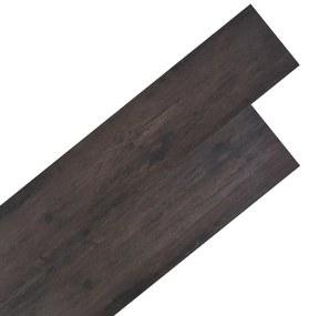 245169 vidaXL Tábuas de soalho PVC 5,26 m² 2 mm carvalho cinzento escuro