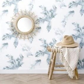Palmeiras papel de parede azul