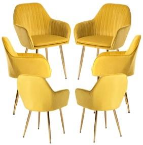 Pack 6 Cadeiras Chic Golden