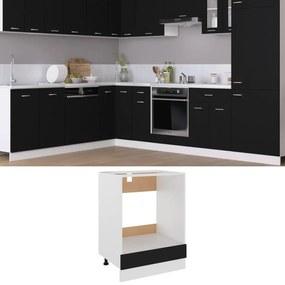 802498 vidaXL Armário para forno 60x46x81,5 cm contraplacado preto
