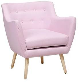 Poltrona tecido rosa DRAMMEN