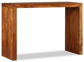 244671 vidaXL Mesa consola madeira maciça c/ acabamento sheesham 110x40x76 cm