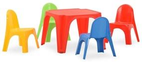 316178 vidaXL Conjunto de mesa e cadeiras de jantar para crianças PP