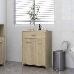 805027 vidaXL Armário casa de banho 60x33x80 cm contrapl. carvalho sonoma