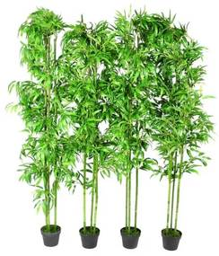 240016 vidaXL Planta Artificial em Vaso Bambu  190cm 4 peças