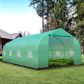 Outsunny Estufa de Jardim ou Terraço para Cultivo de Plantas e Sementes – Cor verde -600x300x200cm