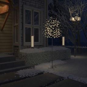 51268 vidaXL Árvore de Natal 220 LED flor cerejeira luz branco quente 220 cm
