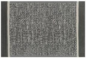 Tapete de exterior 120 x 180 cm preto e branco BALLARI