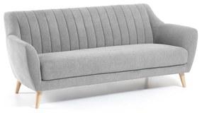 Kave Home - Sofá Obo 3 lugares cinzento claro 190 cm