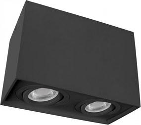 Luz de teto CHLOE DUO 2xGU10/50W/230V preto