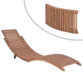 44666 vidaXL Espreguiçadeira dobrável madeira de teca maciça