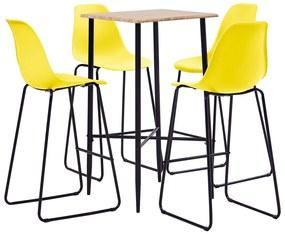 Conjunto de Bar Plástico Amarelo 5 pcs
