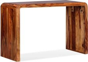 Aparador/secretária em madeira de sheesham maciça castanho