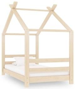 289607 vidaXL Estrutura de cama infantil 70x140 cm madeira de pinho maciça