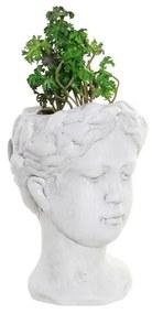 Planta Decorativa DKD Home Decor Branco Verde PVC Terracota (13.7 x 13.2 x 27.5 cm)