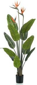 428469 Emerald Planta estrelícia artificial em vaso com flores 120 cm