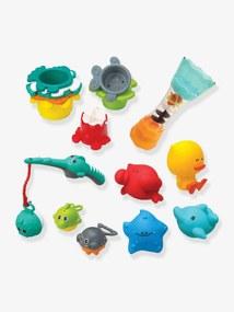 Conjunto para o banho, 17 peças, INFANTINO azul medio liso