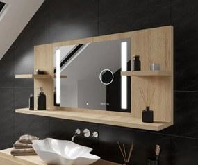 Espelho com iluminação e com prateleiras LED L02