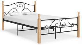 324941 vidaXL Estrutura de cama 120x200 cm metal preto