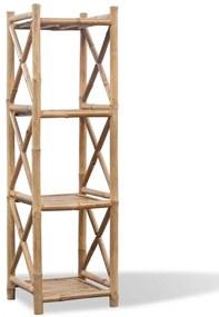 242492 vidaXL Estante de bambu quadrado com 4 níveis