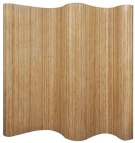 241668 vidaXL Biombo/divisória de sala 250x165 cm bambu natural