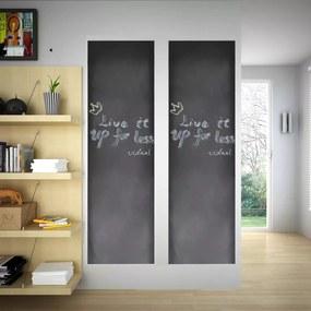 Autocolante quadro negro com gizes 0,45 x 2 m (2 Rolos)