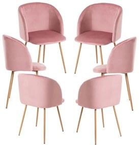 Pack 6 Cadeiras Velt Veludo