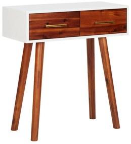 327461 vidaXL Mesa consola 70x30x75 cm madeira de acácia maciça e MDF